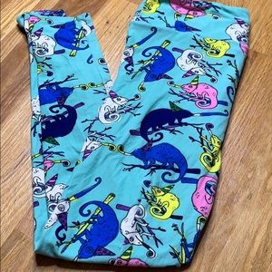 LuLaRoe TC birthday gecko leggings